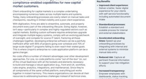 Solution Brief: Capital Markets Client Onboarding Solution