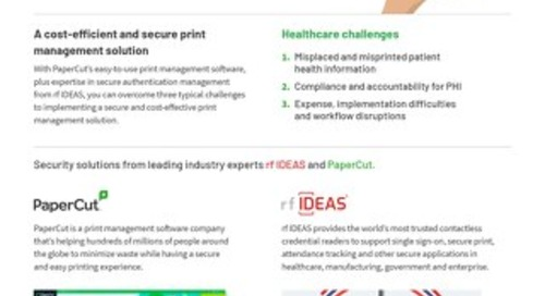 Papercut Healthcare Solutions Brochure rfIDEAS