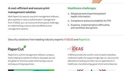 Papercut Healthcare Solutions Brochure rfIDEAS