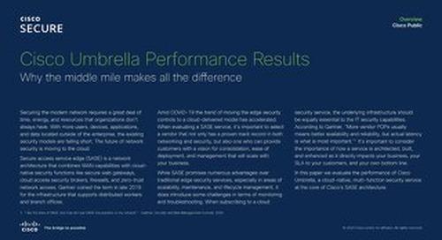 Cisco Umbrella Performance Report