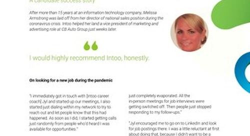 Intoo Candidate Success Story - Melissa Armstrong