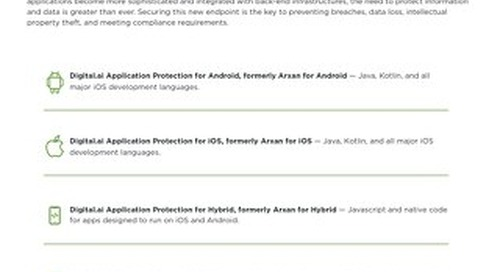 Application Protection Capability Sheet
