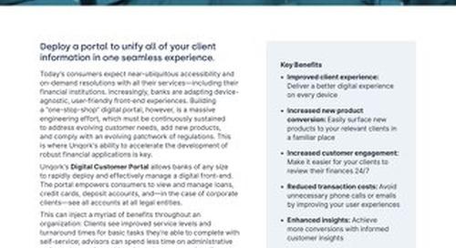 Solution Brief: Banking Digital Customer Portal