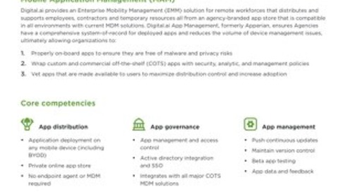 Mobile Application Management Capability Sheet