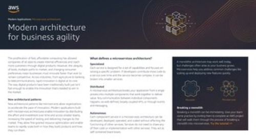 Modern Applications: Microservices architectures