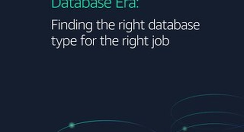 Enter the Purpose-Built Database Era: Finding the right database type for the right job