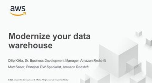 Modernize your data warehouse