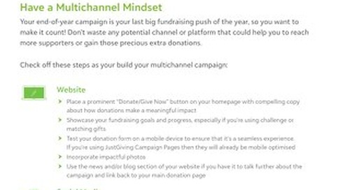 Have a Multichannel Mindset Tipsheet