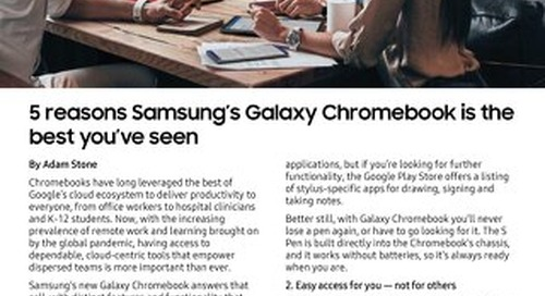 5 Reasons Why Samsung Galaxy Galaxy Chromebook is the is the Best