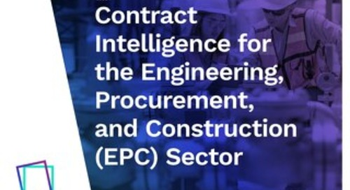 Contract Intelligence for the Engineering, Procurement, and Construction (EPC) Sector