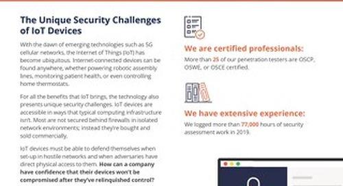 Iot Security Datasheet