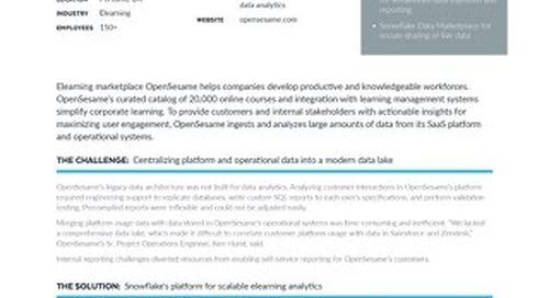 OpenSesame Builds Modern Data Lake on Snowflake for New Data Insights