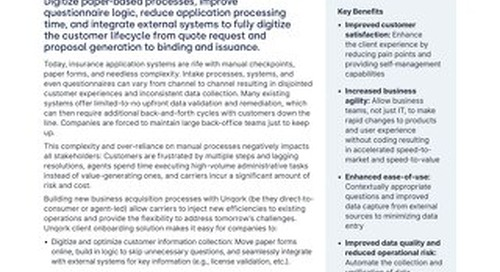 Solution Brief: P&C Insurance Client Onboarding