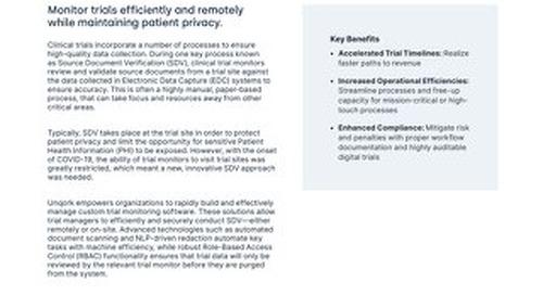 Solution Brief: Healthcare Lifesciences Advanced Trial Monitoring Solution