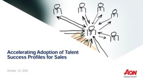 Accelerating Adoption of Talent Success Profiles for Sales