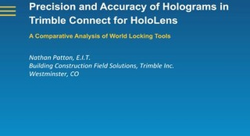 White Paper: Precision and Accuracy of Holograms in Trimble Connect for HoloLens
