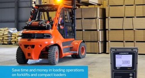 Trimble LOADRITE Sprint Compact Loader/Forklift Scales Brochure - English