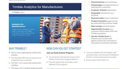 Construction Analytics One-Pager
