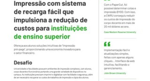 Papercut Higher Education Brazil