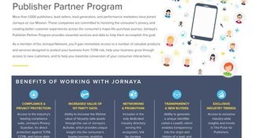 About Jornaya's Publisher Partner Program