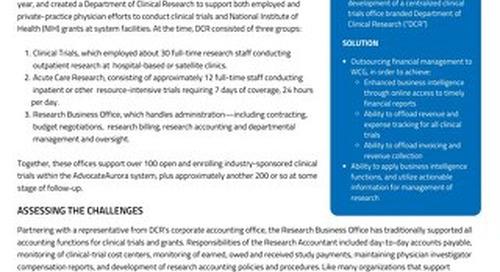 WCG Financial Management Case Study - AdvocateAurora