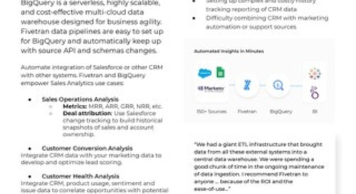 Fivetran for BigQuery - Sales Analytics
