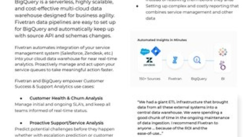 Fivetran for BigQuery - Customer Success & Support Analytics