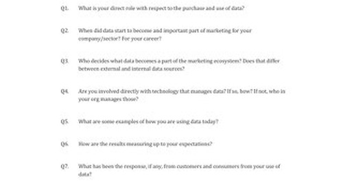 Interview Guide Example: Datas Real Value