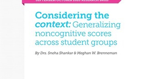 Considering the context: Generalizing noncognitive scores across student groups