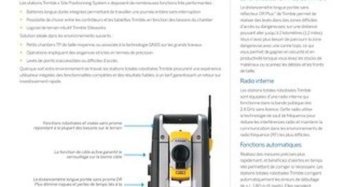 Trimble SPSX20 Robotic Total Station Datasheet - French