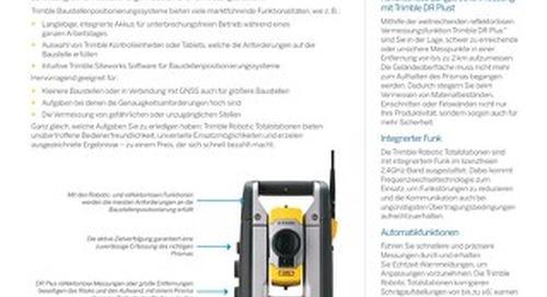 Trimble SPSX20 Robotic Total Station Datasheet -German