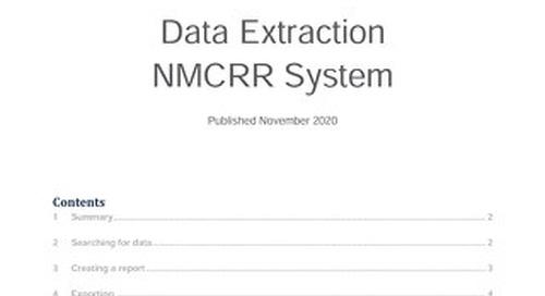 NMCRR Data Extraction