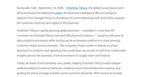 Charlotte Tilbury Leverages Google Cloud for Data-Led Customer Experience