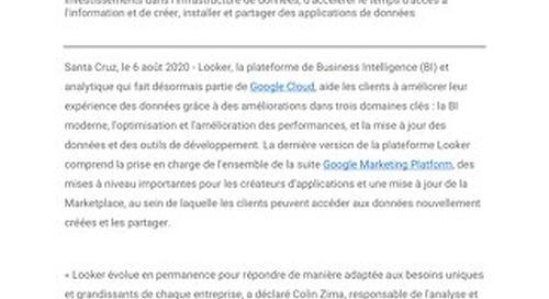 Google Cloud apporte des améliorations à Looker afin d'optimiser les performances et accélérer le développement d'applications