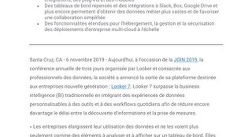 Looker annonce Looker 7 : accélérer l'exploitation des informations en intégrant des expériences de données aux workflows