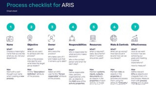 Cheat Sheet: Process Checklist for ARIS