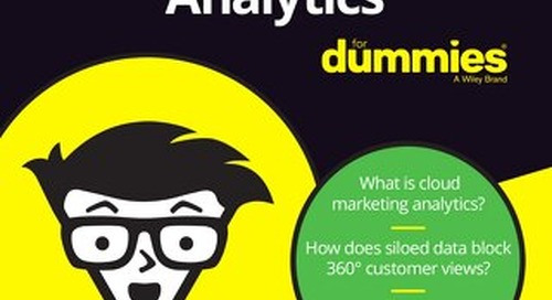 Cloud Marketing Analytics for Dummies