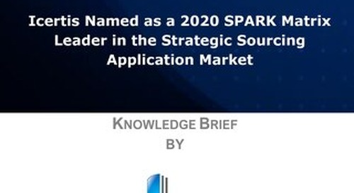 Knowledge Brief:  Icertis Named as a 2020 SPARK Matrix Leader in the Strategic Sourcing Application Market