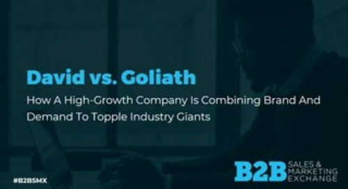 David v. Goliath - Casey Foss, CMO of West Monroe, B2BSMX Presentation Slide Deck