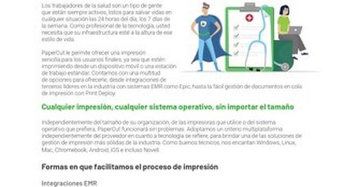 PaperCut Healthcare Ease of Use en Español