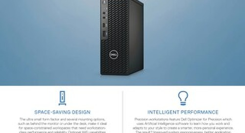 Precision 3240 Compact – The Smallest Workstation from Dell