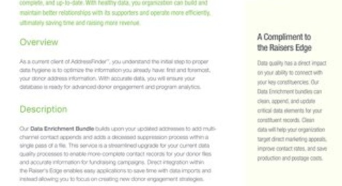 AddressFinder to Data Health Bundle Datasheet