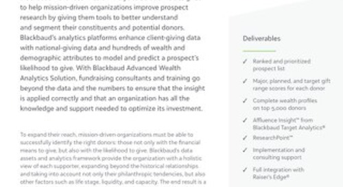 Advanced Wealth Analytics Datasheet