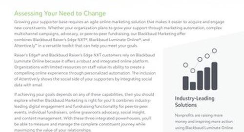 Migrating to Blackbaud Marketing Datasheet