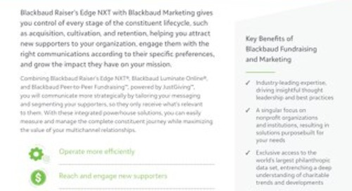 Raiser's Edge NXT with Blackbaud Marketing
