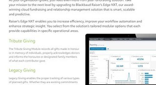 Blackbaud Raiser's Edge NXT for eTapestry Customers