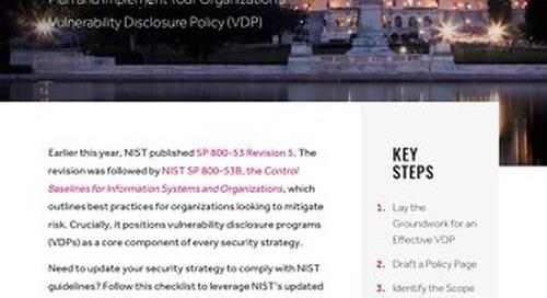 NIST 800-53B Checklist: Public Disclosure