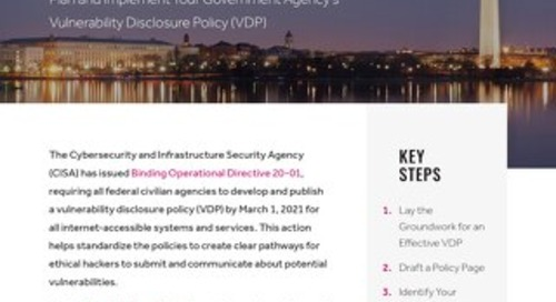CISA BOD 20-01 Checklist: Vulnerability Disclosure