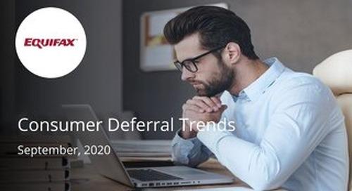 Consumer Deferral Trends for BMO - September 2020
