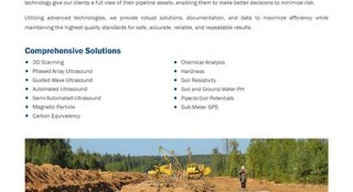 Pipeline Integrity Field Evaluations (NDE) & Inspections